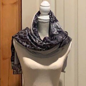 EUC Black & Gray Pashmina or Scarf/Wrap